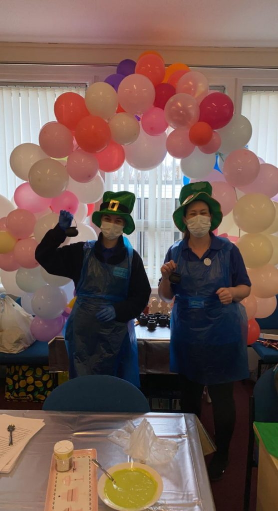 Staff on St Patrick's Day 2021